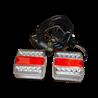 Zestaw lamp tylnych LED 12V na magnes LA207351GP