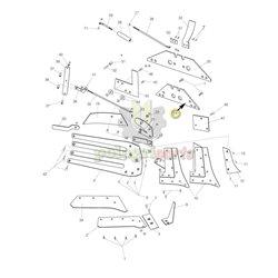 Płoza krótka lewa/prawa pług Kverneland trapez 073608