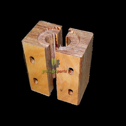 Panewka drewniana wytrząsacza 90 x 130 x 70 mm , fi 28 mm , sampo , deutz sr652444 agv