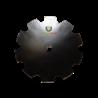 TALERZ BRONY UZĘBIONY FI 610 MM 40 X 40 MM 610-406GZ
