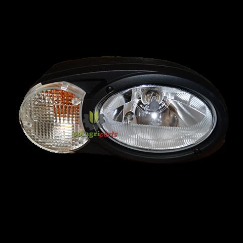Reflektor świateł przy kabinie na słupku kompletny z kierunkiem prawy fendt g930900020070 , hella 1eb996 167-041