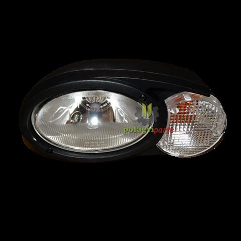 Reflektor świateł przy kabinie na słupku kompletny z kierunkiem lewy fendt g930900020080 , hella 1eb996 167-031