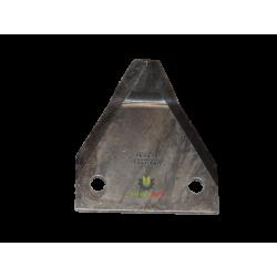 Nóż paszowozu 88x76x3, gładki, wygięty, fi 8,6 MWS Faresin