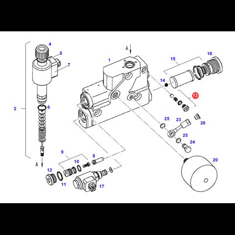 Zestaw części rozdzielacza hydraulicznego fendt oem f916961020060