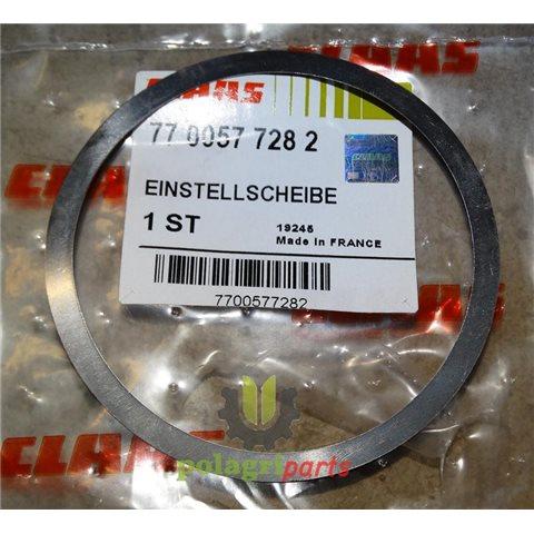 Podkładka zwrotnicy przedniej osi renault claas 0,2mm 7700577282