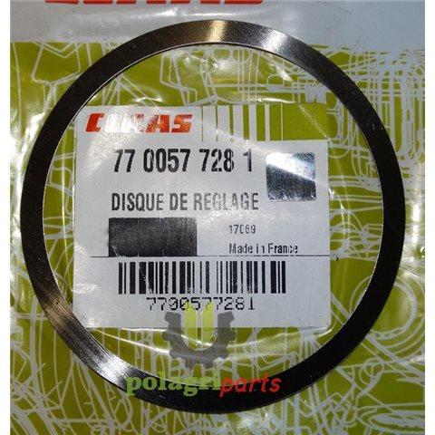 Podkładka zwrotnicy przedniej osi renault claas 0,15mm 7700577281