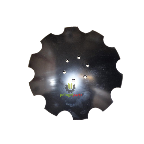 Talerz brony uzębiony, 510 mm, 6 otworów 120 mm rozstaw hd510120
