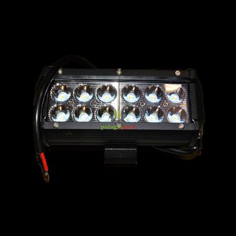 Lampa robocza led prostokąt podójna 36w , 12cree led x 3w spot jag96-0039