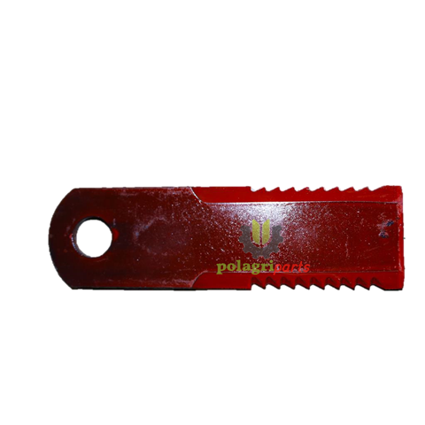 Nóż sieczkarni obrotowy uzębiony agv 87318316 ( 173 x 50 x 5 mm ) fi 20.5 mm