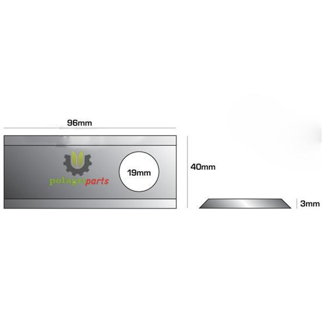 Nożyk do kosiarki rotacyjnej 96x40x3 MWS